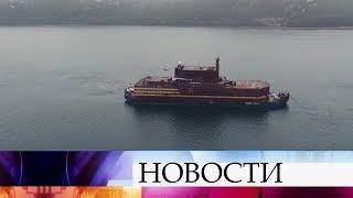 Первая в мире плавучая атомная электростанция «Академик Ломоносов» прибыла в Мурманск.