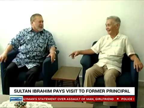 Sultan Ibrahim Pays Visit To Former Principal