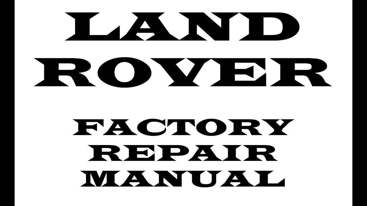 Land Rover Discovery Sport 2017 2018 2019 repair manual
