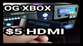 How To Make $5 D.I.Y Original XBox HDMI Wire Wii2HDMI Xbox2HDMI Modd  - RETRO PRO FRANK