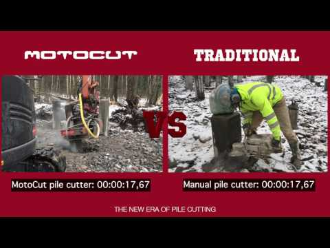 Pile cutting - mechanized versus traditional - match of the year feat. MotoCut!