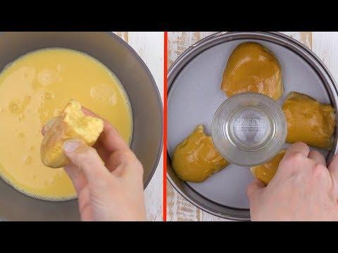 Le verre au milieu du pain fait toute la différence dans cette recette
