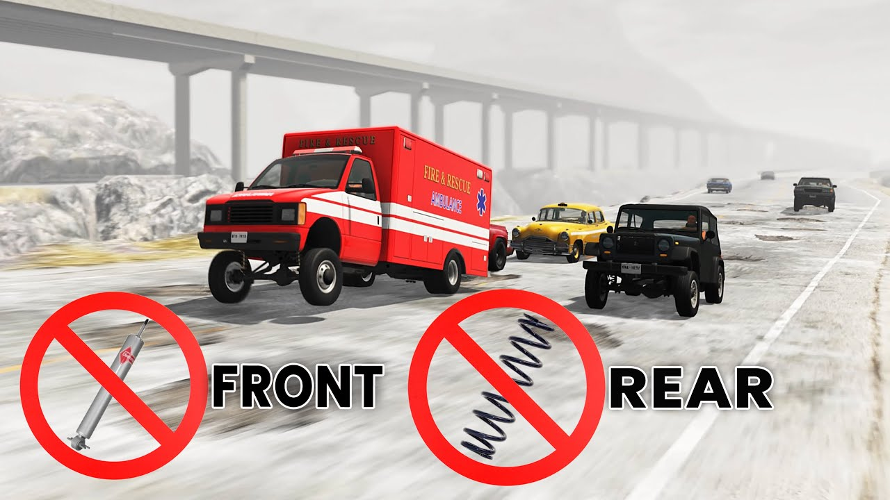 BeamNG Drive - Racing With Only Front Springs And Rear Dampers