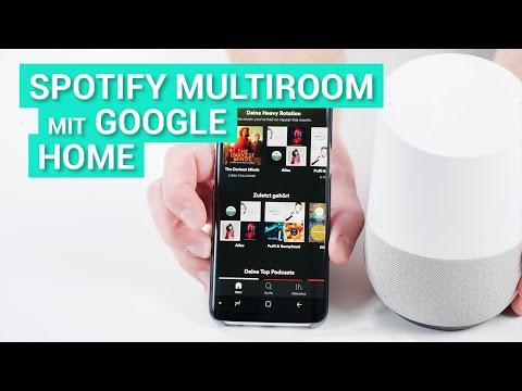 Musik von Spotify hören und Multiroom mit dem Google Home / Google Assistant steuern (deutsch)