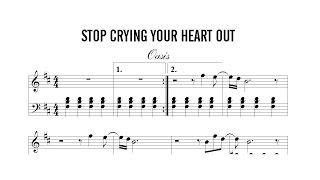 Partitura: Oasis - Stop Crying your Heart Out | Clases de Produccion de Partituras