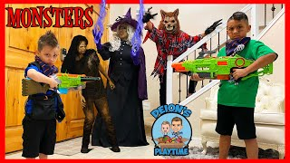Monsters in our House | A Zombie, Witch and Werewolf | Deion's Playtime
