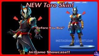 *NEW* Taro Skin! *Before You Buy* & In Game Showcase!   Fortnite Battle Royale