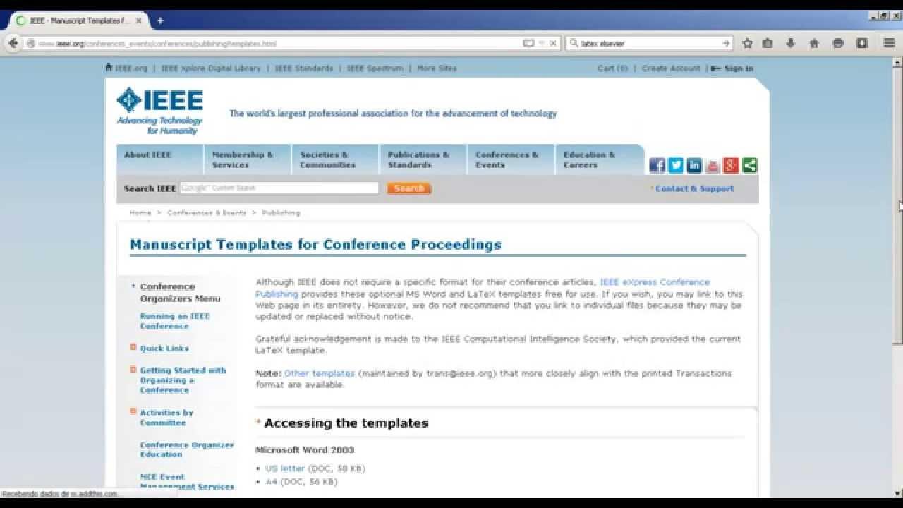 Aula 1 Baixando template latex (Elsevier e IEEE) - YouTube