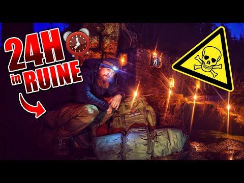 24H BIWAK in RUINE mit neuer Ausrüstung - Biwaksack & Defense 4 - Overnighter Übernachtung