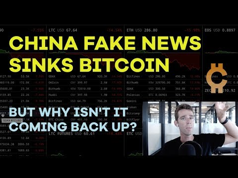 China Fake News Sinks Bitcoin...Why Isn't It Coming Back Up? Trade vs Hold, Research - CMTV Ep43