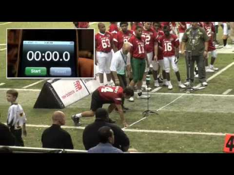 Cody Mucino (Not Cody Paul #5) Age 13 Sets Youth 40 Yard Dash Record 4.8 Seconds