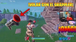 IT MAKES THE GLITCH TO FLY WITH THE GRAPPLER! AT FORTNITE BATTLE ROYALE