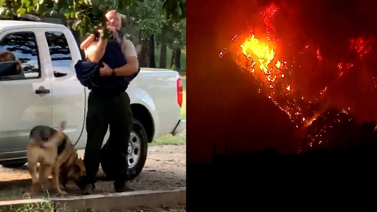 Firefighter Reunited with Daughter After Weeks Away Fighting Wildfires