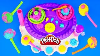 Play Doh Birthday Cake Mountain 2 in 1 Sweet Shoppe Playdough Cake Machine Play-Doh Molds Toys
