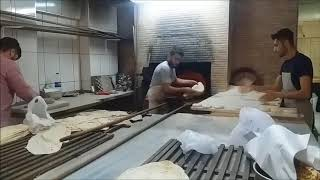 Lavash makers in an Istanbul Bakery