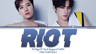 DJ GiNJO ft  Ten ft  Xiaojun of WayV     THE RiOT                 Color Coded English s  Resimi