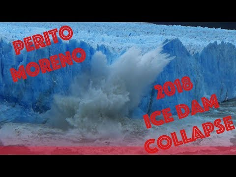 Perito Moreno Glacier Dam Collapse 2018 - 12 hours later, the glacier calved like crazy