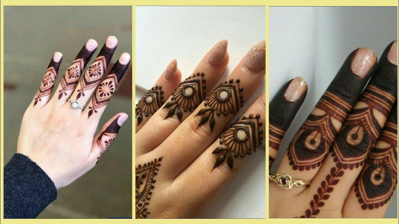 mehndi design finger only