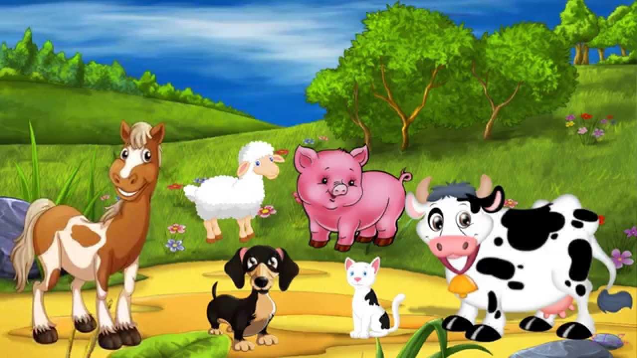 """""""Песенка про животных"""" для самых маленьких - YouTube"""