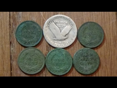 Standing Liberty Quarter, 1800s coins! Metal Detecting the Midwest!