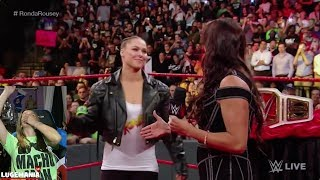 WWE Raw 8/20/18 Ronda Rousey snuffs Stephanie McMahon