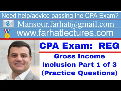 Gross income CPA exam questions regulation 1