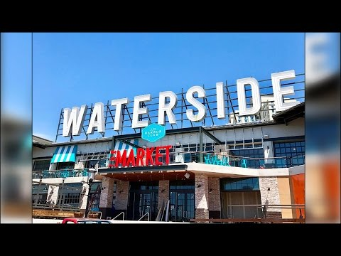 Wet day for Waterside District's grand opening