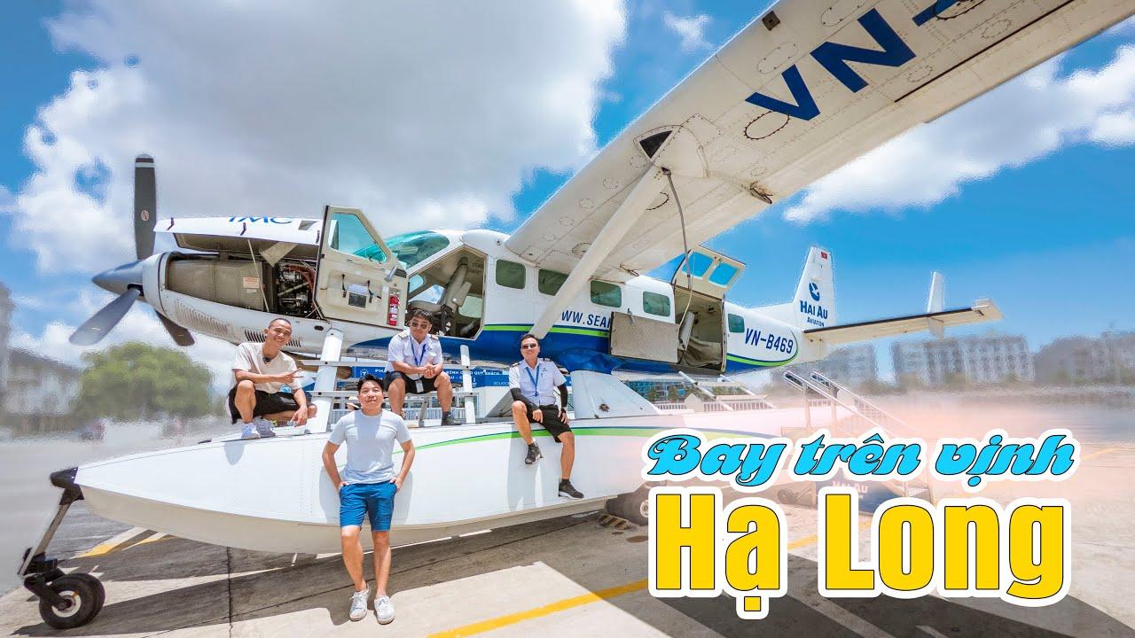 Bay Flycam 5 năm không sướng bằng 15 phút ngồi trên thủy phi cơ ngắm vịnh Hạ Long
