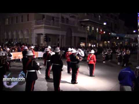 #2 Bermuda Regiment + Pipe Band - Front Street Mile Jan 14th 2011