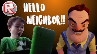 HELLO NEIGHBOR!! - ROBLOX - Kid Gamer Plays Hello Neighbor - Kid Friendly Gaming - JAMtv