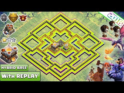 New Best TH11 Base 2018 with REPLAY | th11 Farming/Trophy Base Anti Everything – Clash of Clans 2018