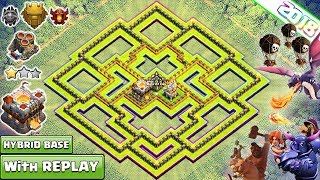 New Best TH11 Base 2018 with REPLAY th11 Farming Trophy Base Anti Everything Clash of Clans 2018