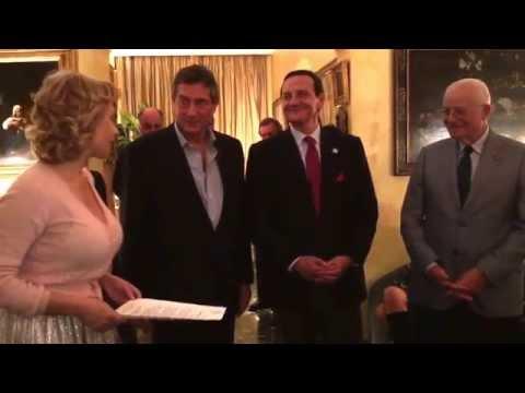 Mr. Tony May wins award for best Italian  cuisine in New York