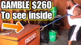 We paid $260 to see inside ridgid job box, gamble of a surprise unbox 46 storage auction reveal