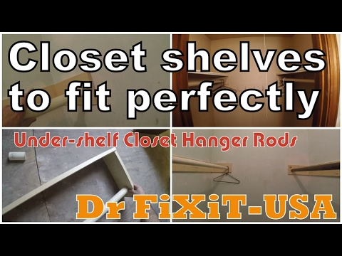 How To Build Closet Shelves To Fit Perfectly Dr FiXiT  USA   YouTube