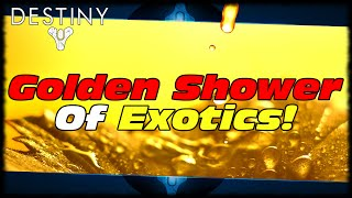 Golden Shower Of Exotics Live Reaction & Engram Opening! Destiny Random Funny Moments!