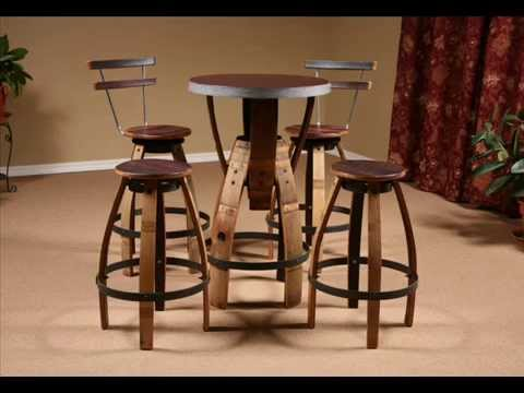 Wine Barrel Furniture I Wine Barrel Table Designs : wine barrel table and stools - islam-shia.org