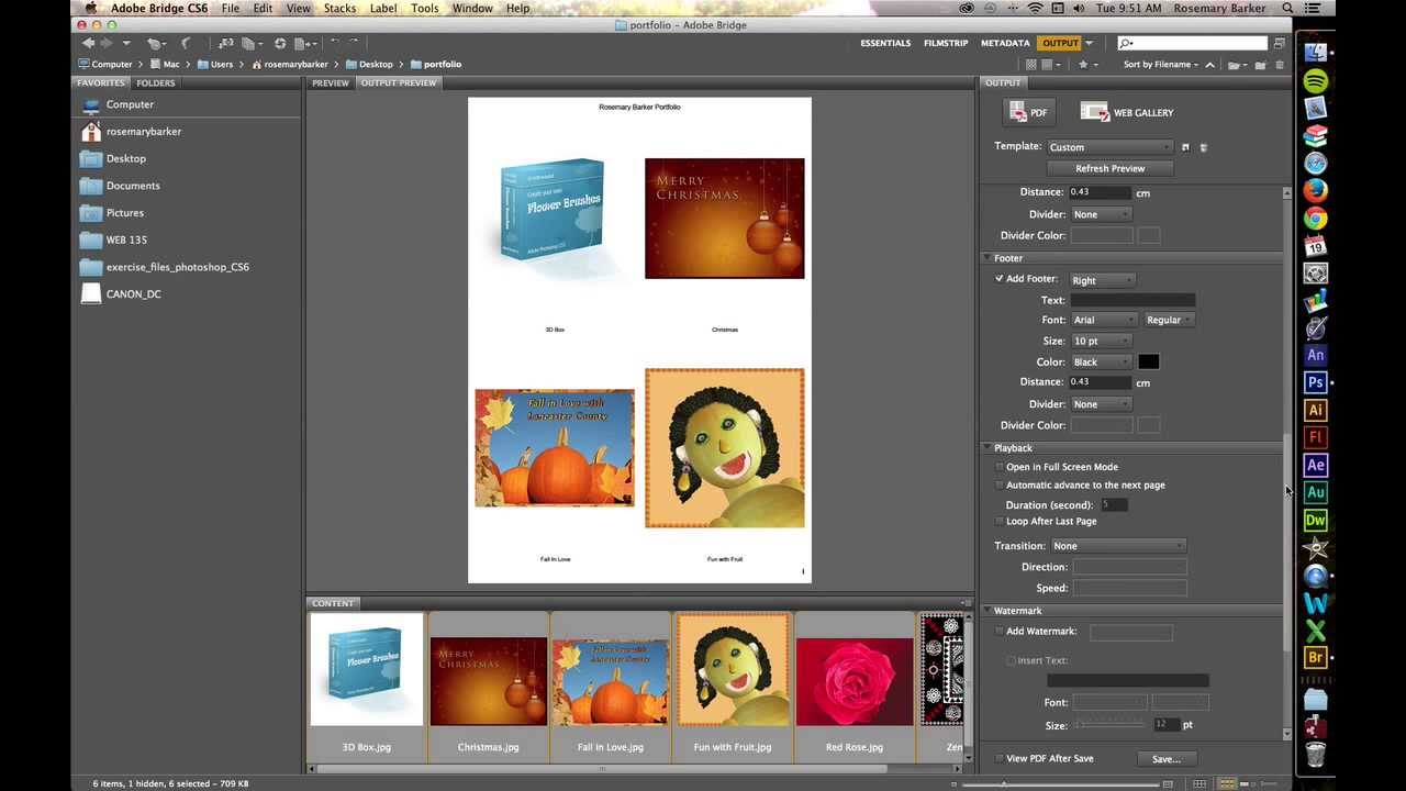 how to create a pdf portfolio in photoshop
