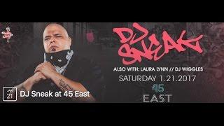 DJ Sneak Live at Jade Club (Upstairs 45 East) 1/21/17 Portland, OR
