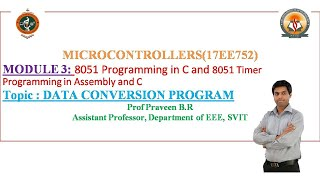 Module 3 : 8051 Programming an…