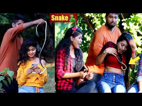 Snake Prank on Cute Girls Prank Gone Wrong | PrankBuzz