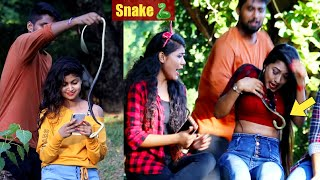 🐍Snake Prank on Cute Girls😲😲 Prank Gone Wrong | PrankBuzz