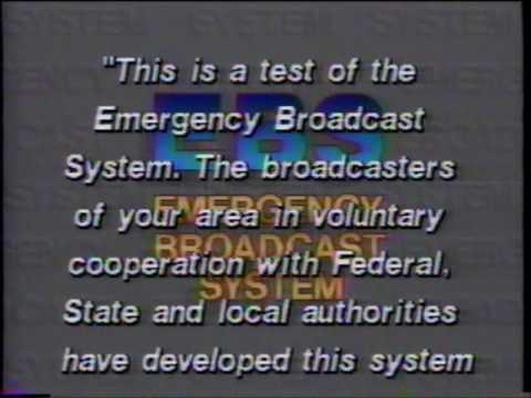 EBS  - Emergency Broadcast System  - Test  - KOMO TV 4  - Seattle King County (1992)