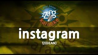 [짱가라오케/-1키/MR] 딘(DEAN)-instagram KPOP Karaoke [ZZang KARAOKE]