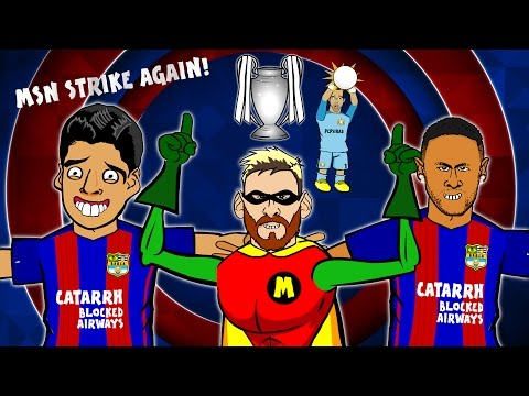 MSN STRIKE AGAIN! Song - Barcelona vs Man City (4-0  Highlig