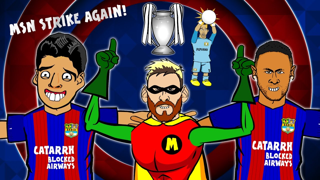 (4-0  MSN Man - Song vs Barcelona City AGAIN! STRIKE
