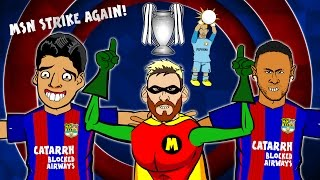 MSN STRIKE AGAIN! Song - Barcelona vs Man City (4-0  Highlights, Goals, Messi Hattrick)(MSN destroy Man City in the Champions League, 2016! GUESS WHO - Lionel Messi! (Parody) ⚽️Subscribe to 442oons: http://bit.ly/442oonsSUB⚽   Neymar ..., 2016-10-20T18:45:00.000Z)