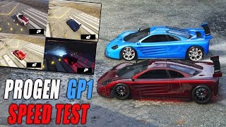 SPEED TEST PROGEN GP1 | GTA V Online (TEST DE VELOCIDAD)