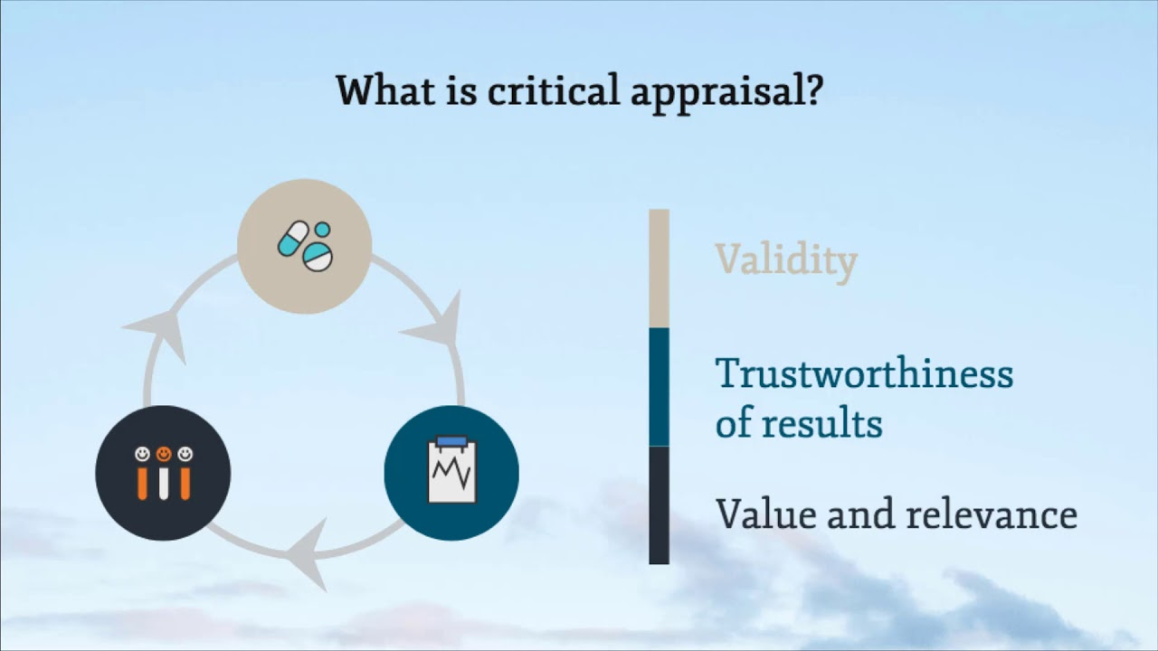Download 1.  Introduction to critical appraisal