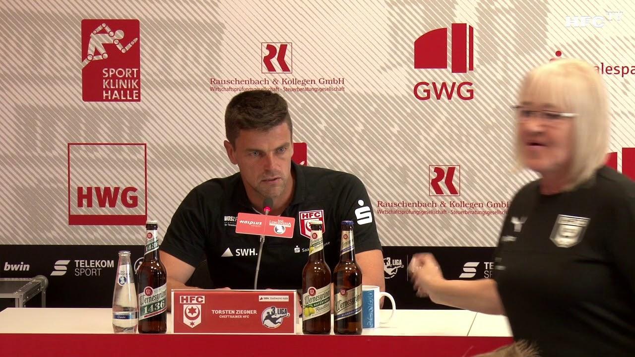 6 Spieltag Hallescher Fc Vfl Osnabrück Pressekonferenz Nach